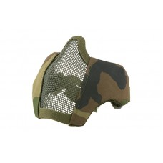 Mesh Mask With Fabric Side - Woodland FAST HELM MOUNT