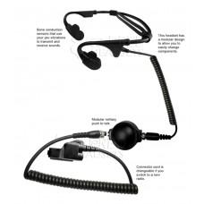 Code Red Headsets Battle Zero-M3 Bone Conducting Headset for Motorola Multi-pins Radio