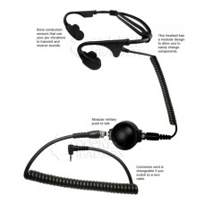 Code Red Headsets Battle Zero-M6 Bone Conducting Headset for Motorola 1-pin Radio