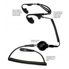 Code Red Headsets Battle Zero-M7 Bone Conducting Headset for Motorola Multi-pins Radio
