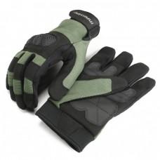 Makhai Assault Gloves Met Keprotect Knokkels - Zwart Groen