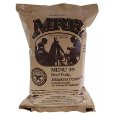US MRE Meal 19 - Grilled Jalapeno Pepper Jack Beef Patty