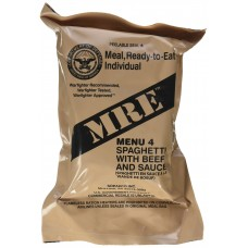 US MRE Meal 4 - Spaghetti with Beef and Sause