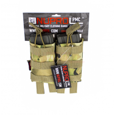 Nuprol PMC M4 Double Open Top  Mag Pouch - MultiCam