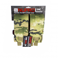 Nuprol PMC M4 Double Closed Top Mag Pouch - MultiCam