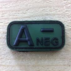 Bloedgroep A- 3D PVC Patch - Groen