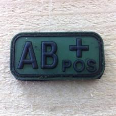 Bloedgroep AB+ 3D PVC Patch - Groen