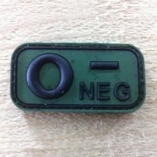 Bloedgroep O- 3D PVC Patch - Groen
