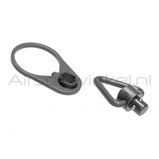 Ares End Plade QD Sling Mount With Sling Swivel