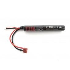 Titan 2600mah 7.4v Airsoft Battery Stick T-Plug (Deans)