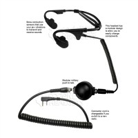 Pre-Order! Code Red Headsets Battle Zero-K Bone Conducting Headset for Kenwood/Baofeng Radio