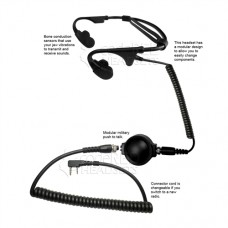 Code Red Headsets Battle Zero-K Bone Conducting Headset for Kenwood/Baofeng Radio