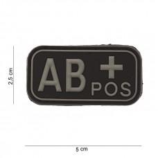 Bloedgroep AB+ 3D PVC Patch - Zwart