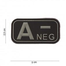 Bloedgroep A- 3D PVC Patch - Zwart