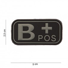 Bloedgroep B+ 3D PVC Patch - Zwart
