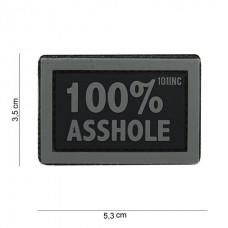 100% asshole patch grijs zwart