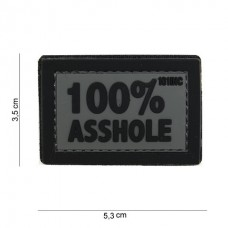 100% Asshole patch Black Grey