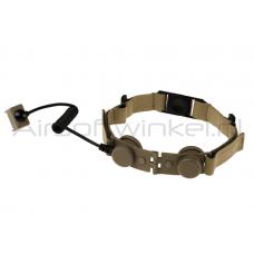 Z-Tactical Z045 EVO III Throat Mic Adapter - Tan